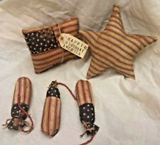 Primitive  Americana Bowl Fillers American Flag/Star/Firecrackers/Grunged