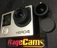 GoPro Hero4 Silver Camera Modified 4K CHDHN-401 with 5.4mm Rectilinear Flat Lens