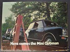 1969-1970 Austin Mini Clubman & Estate Sales Brochure Folder Excellent Original