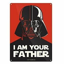 Star Wars Darth Vader I Am Your Father Small Metal Sign 210mm X 150mm (hb)