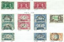 King George V - 1935 Silver Jubilee Issue - 13 mixed stamps