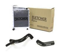 FLETCHER RADIATOR CLASSIC MINI 850cc 998cc WITH TOP & BOTTOM HOSES BLACK Y3268