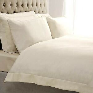 Hotel Collection Ideal Home 200 Egyptian Cotton Ivory Cream Duvet Set King Size