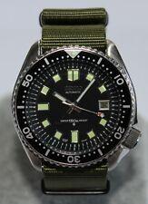 SEIKO 7002-7000 Vintage Diver Watch Classic 6105 Dial Green Nylon Strap