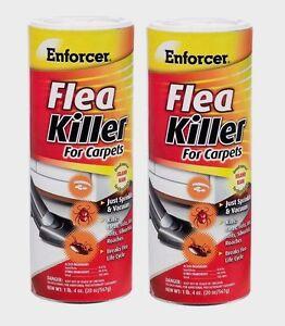 2 ENFORCER Flea Killer FOR CARPET Kills Insects Ticks Lice Ants Roaches 20oz NEW