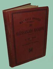 Alessandro Manzoni Manuale Hoepli 1898 Beltrami Promessi Sposi Illustrato