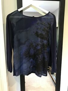 Ladies Mexx Metropolitan Purple Long Sleeved Top Size S