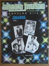 SHEET MUSIC MAGAZINE AUGUST / SEPTEMBER 1984 POPULAR HITS - BEE GEES PLUS...