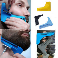 Beard Styling Shaping Template Comb Barber Tool Symmetry Line Up Trimming Guide.