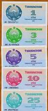 Uzbekistan, SET, 1;3;5;10;25 Sum 1992 First Ex-USSR Picks 61-62-63-64-65 UNC