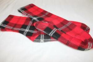 Women's  Polar Fleece Socks Slippers Choose Size Red Plaid