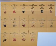 1948 Strat-O-Matic Baseball Printed Storage Envelopes with Stats and Logo