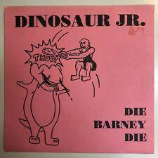 """DINOSAUR JR DIE BARNEY DIE GRAY MARBLE 7"""" VINYL RAISINS / ? 1989 PREHISTORIC REC"""