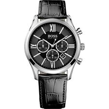 NEW HUGO BOSS 1513194 MENS BLACK AMBASSADOR WATCH - 2 YEARS WARRANTY