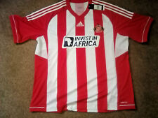 Sunderland AFC Invest in Africa Red/White Brand New Footy Shirt short sleeve 3XL