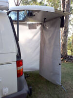 INSTANT tailgate rear tent VW Transporter easy set up - extra space / beach tent
