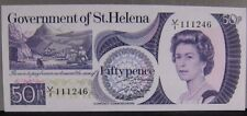 1979 (ND) St. Helena, Government of, 50 Pence Note CU    ** FREE U.S SHIPPING **