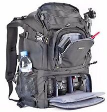 Camera Travel Bag Backpack Laptop Gadget DSLR Extra Large W/Rain Cover Blk