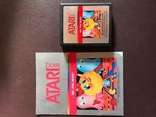Used Atari 2600 Ms. Pac-Man Game Cartridge And Manual Untested