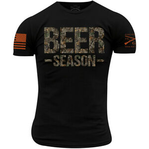 Grunt Style Realtree Edge - Beer Season T-Shirt - Black