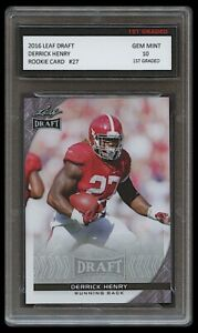 DERRICK HENRY 2016 LEAF DRAFT 1ST GRADED 10 ROOKIE CARD RC TENNESSEE TITANS