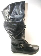 NEW Womens RAMPAGE BAILY Black Knee High Flat Fashion Tall Dress Boots sz 7