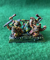 WARHAMMER CLASSIC METAL CHAOS NURGLINGS x8 SWARM BASE PRO PAINTED GAMES WORKSHOP