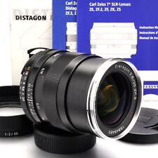 Zeiss Distagon T* 25mm F/2.8 ZF.2 Nikon F-Mount Lens