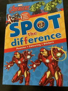 Marvel Avenger Spot the Difference Activity Book