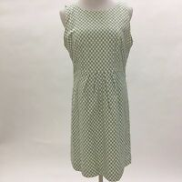 Fossil M Medium Dress sheath checked sleeveless lined back zip