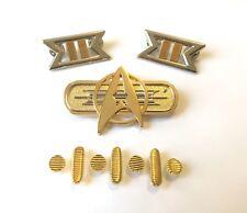 Star Trek Movie Uniform Full Set of Pins for a Commander