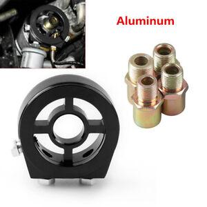 Aluminum Oil Filter Temp Pressure Cool Gauge Sandwich Plate Adapter Sensor Grand