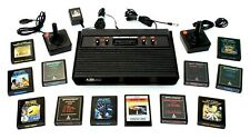 Atari VCS-CX2600A Launch Edition Black Console, 12 Games Included, Tested