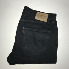 Levis 501™ 34 32 Mens Work Jeans Regular Straight Original Fit Faded Black Denim