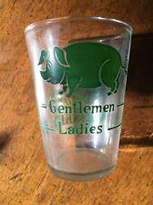 Jack Daniels Green Label Old No 7 Pig Whiskey Vintage Shot Glass