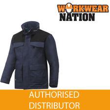 Abrigos y chaquetas de hombre parka azul de poliamida