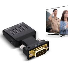 VGA to HDMI Femal1080P HD AV Converter HDTV Audio Video Cable Adapter for PC DVD