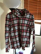 Second Hand Women Long Sleeve Plaid Flannel Small to Medium Size