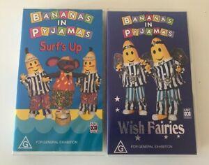 Bananas In Pyjamas  Vhs, Surf's Up &  Wish Fairies