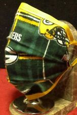 Packers Handmade Double Fold Washable Reusable Face Mask w/ Insert Green Bay Nfl
