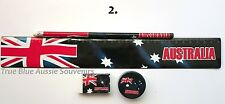 1x Australian Souvenir Ruler, Pencil, Eraser & Sharpener - Australian Flag