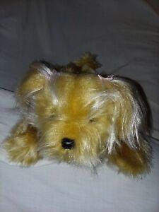 New Plush Russ Berrie Sparkle Teacup Yorkie Terrier Puppy Dog Gilda's Club NWT