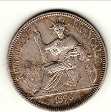 INDOCHINE PIASTRES ARGENT 1896 A