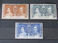 Gold Coast George VI 1937 Coronation set in MNH. Superb.
