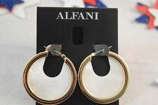 Alfani Gold-Tone Stone Hoop Earrings