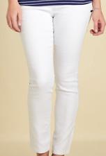White Denim Jeans (Slim Leg, Regular Length)