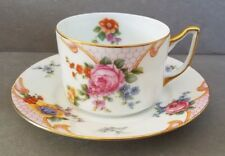 Vintage EPIAG CZECHOSLOVAKIA BRIDAL ROSE (White) Flat Cup and Saucer