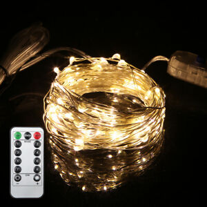 Battery/USB Plug In 200LED DIY Micro Copper/Silver Wire Fairy String Lights Xmas