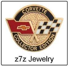CORVETTE Lapel Pin - collector edition hat badge emblem GM chevy tie tack z7qq