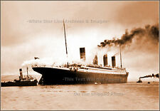 Photo: Grand Sepia View: RMS Titanic's Last Moments In Belfast, April 2nd, 1912